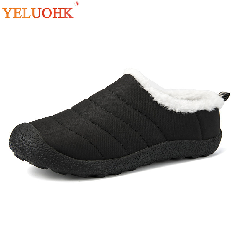 38-46 Winter Slippers Men Plush Warm Men Slippers Outdoor Winter Shoes Men Big Size big size winter warm leisure shoes