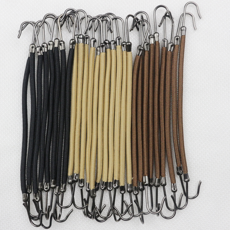 X12 bungee hooks for hair bands elastics with hooks for the perfect ponytail