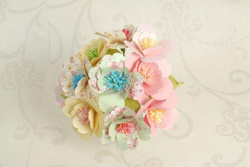 DIY Handmade Paper Craft Greeting Cards Hand Made Paper Flower Kit ...