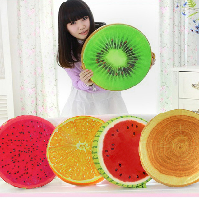 2017 New Popular Personality 3D Fruit Shaped  PP Cotton Office Chair Back Cushion Throw Pillow Home Decor