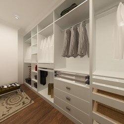América projeto melamina vestiário branco aberto guarda-roupa design (YG14-M01)