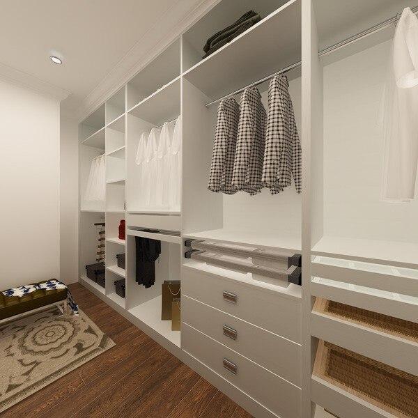 Möbel yg14-m01 Herrlich Amerika Projekt Melamin Garderobe Weiß Offene Garderobe Design Schränke
