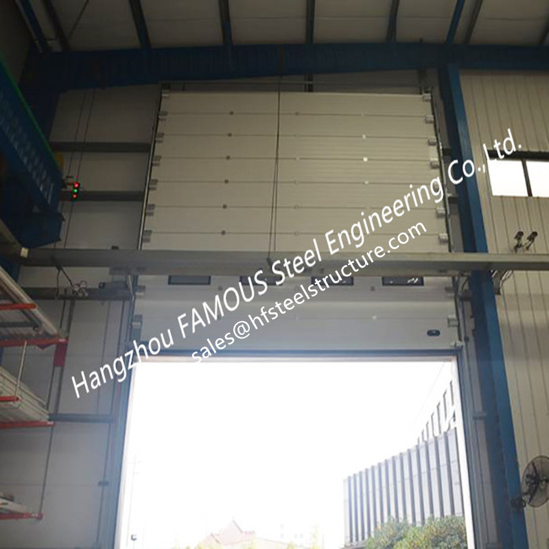 Commercial Overhead Sectional Sliding Door Industrial Factory Up-Ward Fast Lifting Gate China Manufacturer