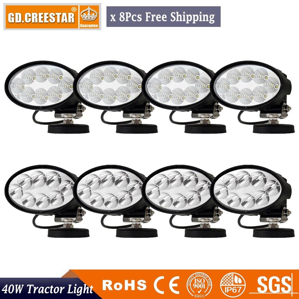 LED Work Light 40W With Adjust 360Degree Bracket 8pcs 12V LAMP For JOHN DEERE MASSEY CASEIH NEW HOLLAND DEUTZ FAHR Kubota LOVOL new scv valve 294009 0260 2940090260 dcrs300260 for john deere re560091
