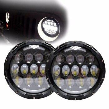 "1 pair 7 inch Headlight Passing light 7"" Round LED headlamp Hi-Low Beam Headlamp for jeep wrangler"