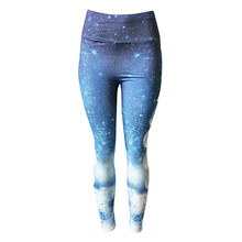 Women Yoga Pants Ombre Moon Printed Running Fitness Gym Active Sport Leggings Female Wokout Tights Clothing Sportswear #H