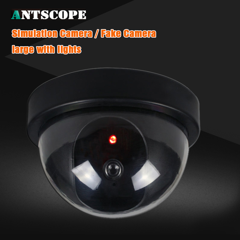Surveillance Cameras Antscope Fake Camera Indoor Dummy Dome Camera With Red Led Light Indication For Cctv Home Surveillance Cameras Security 10 Relieving Heat And Sunstroke Video Surveillance