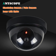 Antscope Fake Camera Indoor Dummy Dome Camera With Red LED Light Indication For CCTV Home Surveillance Cameras  Security