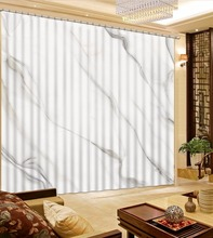 Curtains European Marble For Living Room Bedroom Mall Blackout Window Decoration