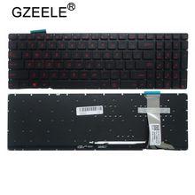 GZEELE nowy US układ dla Asus G551 G551J G551JK G551JM G551JW G551JX G551VW N551 N551J N551JB N551JK podświetleniem klawiatury laptopa