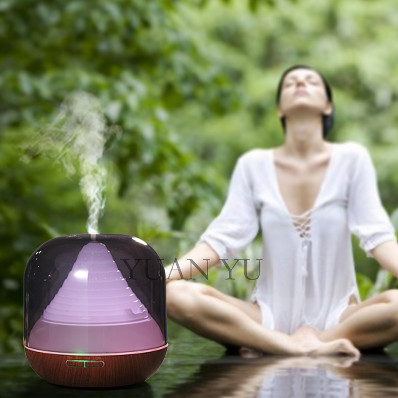 ФОТО Home LED Night Lights Ultrasonic Humidifier Essential Oil Diffuser Aroma Aromatherapy Electric Aroma Diffuser Mist Maker Fogger