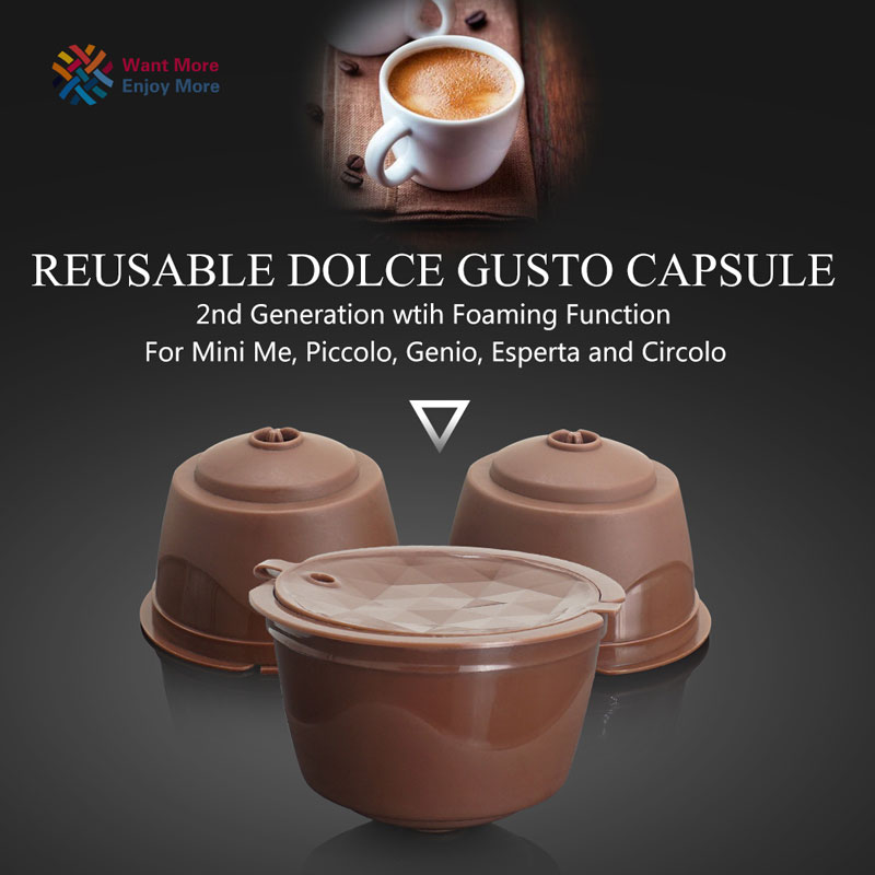 2nd Genaration Dolce Gusto Reusable Coffee  Plastic Refillable Compatible Coffee Filter Baskets Capsules Taste Sweet