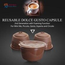 Filtro de café reutilizable Dolce Gusto, 2 ° Genaration, Compatible con cestas de cápsulas, sabor dulce