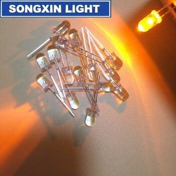 100 шт. 5 мм светодиодный мерцающий диоды, Мигающий Желтый светильник в форме свечи, светоизлучающий диод, мигание, мигание, диодо, danshan Y