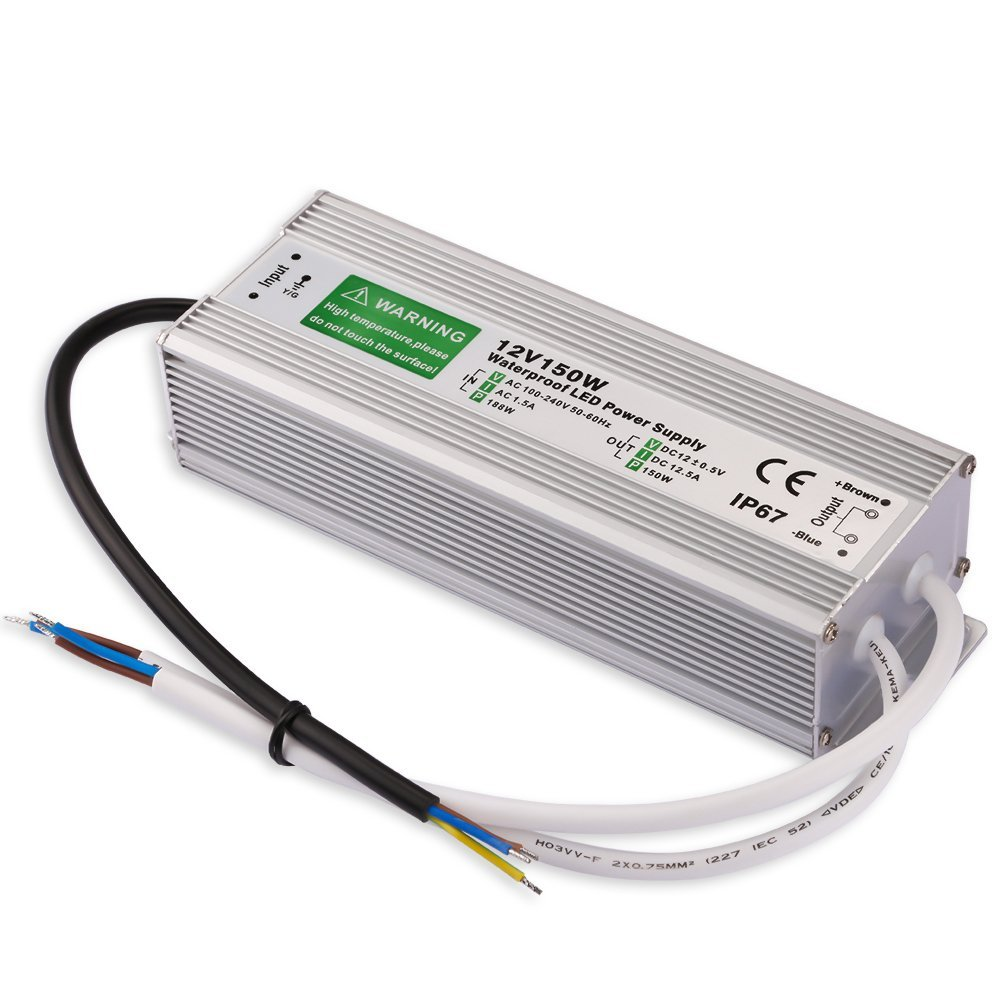 Led Driver Transformer Power Supply <font><b>Adapter</b></font> AC110-260V to DC12V 150W Waterproof Electronic outdoor IP67 led strip lamp image
