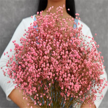 1 Bundle 45-50CM DIY Gypsophila Flower Wedding Party Photo Props Pure natural plant Dried Flowers Cafe Library Home decoration