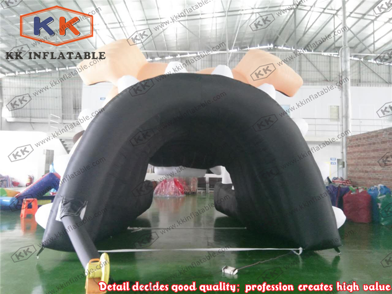 Inflatable bull dog Tunnel Inflatable football helmet tunnel
