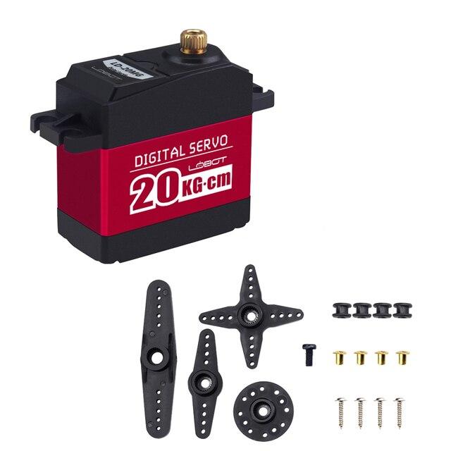 20 KG Micro Servo Metal Gear High Torque Aluminium 180 Degree Servo Remote  Control RC Parts