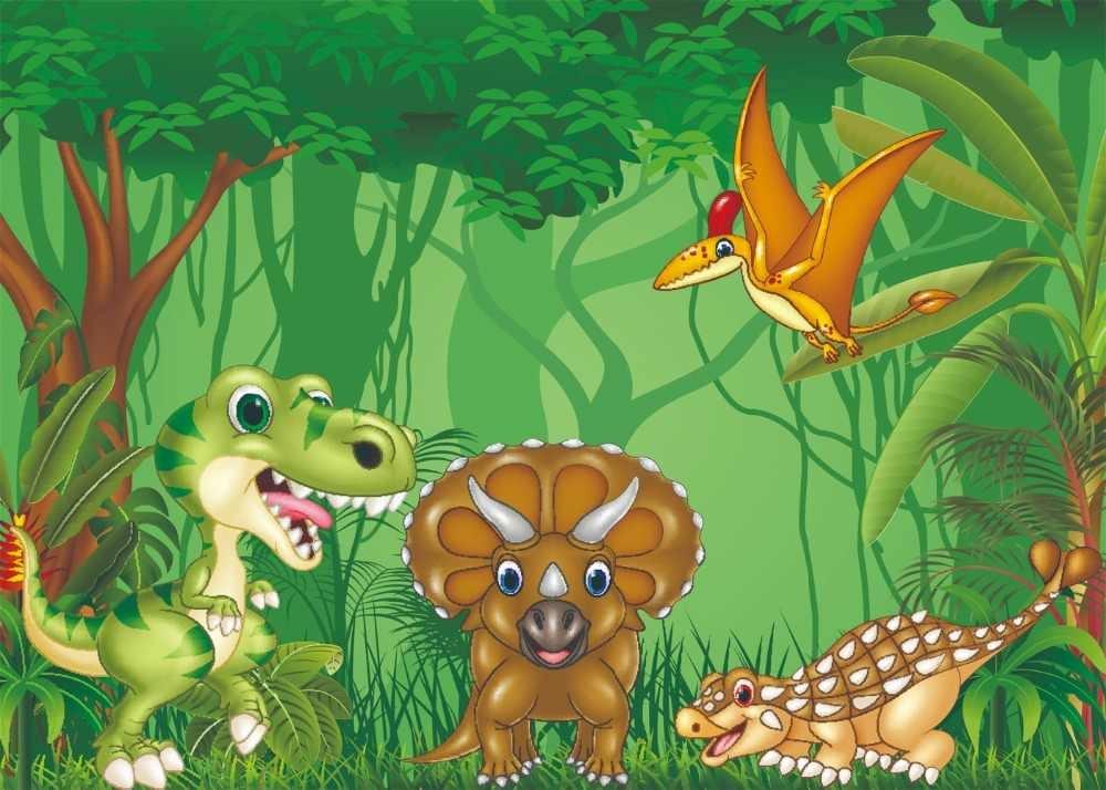 Capisco Парк Юрского периода динозавра день рождения ребенка мультфильм плакат фото фоны джунгли фотографии фоны фотостудия