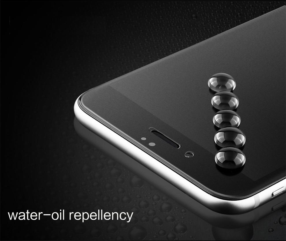 9H 2.5D matowy matowy pełna pokrywa szkło hartowane Screen Protector dla iPhone X XS MAX XR 10 8 7 6s 6 Plus 7Plus anty odciski palców 5
