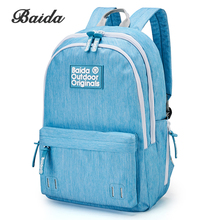 BAIDA School Backpack Women Laptop Schoolbag Large Capacity Youth Fashion Male Bags for Teenagers Girls Satchel