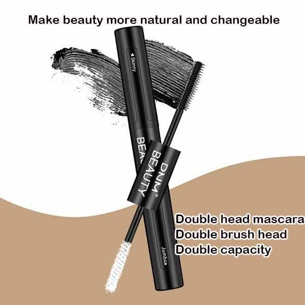Mascara Waterproof DNM Eyelash-Extension Curling Makeup-Eyes-Tools 4d-Fiber Black Double-End