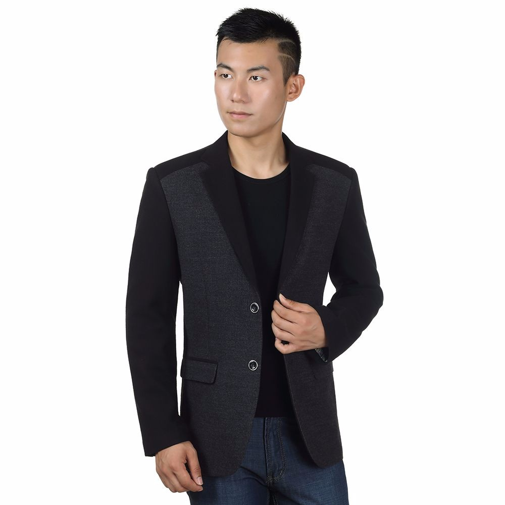 Man Elegance Basic Blazer Black Slim Fit Jackets Men Business Casual Short Blazers Plus Size Terno Masculino Outfits Costume Homme
