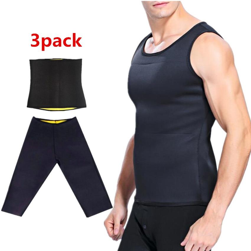 Slimming male Vest body Shaper Men T shirt sweat suits waist Belt Waist Trainer  Shapers shapewear Control Pants Sauna Corset