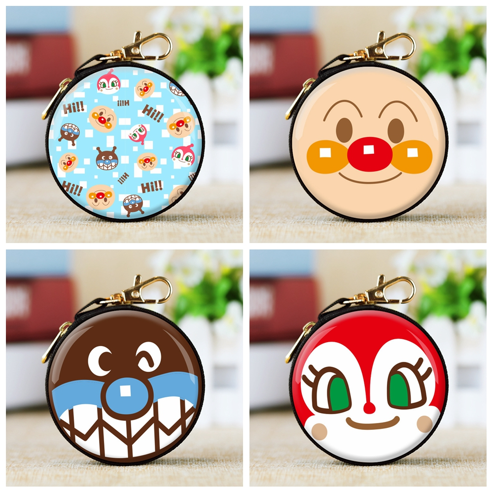 IVYYE 1PCS Anpanman Style Anime Coin Purse Cartoon Soft Change Bags Coins  Wallet Card Key Storage Birthday Gifts New