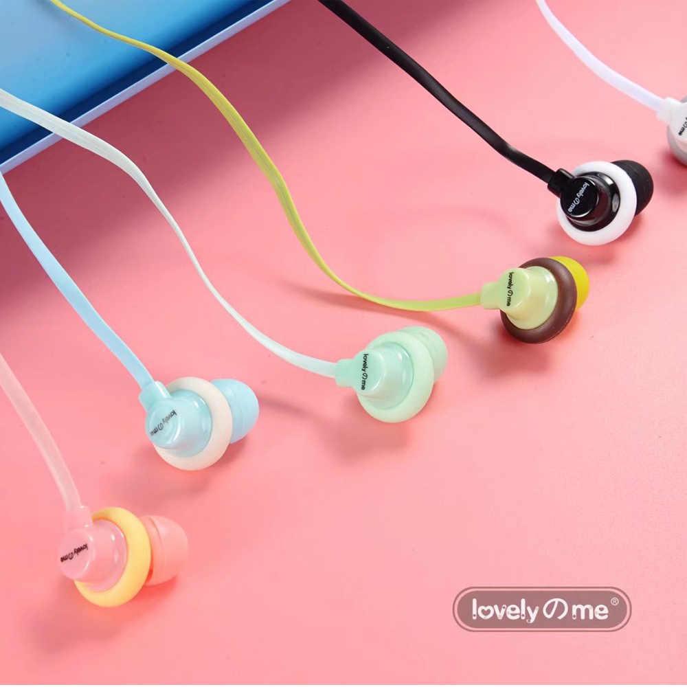 Hot Sale Cute Earphone 2018 Baru Macarons Donat Kartun Earphone Q17 Putih/Pink/Hijau/Biru/Hitam /Mint Hijau untuk Hadiah