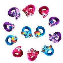 6pc/set Headband Cute Elastic Hair Rubber Bands Girls Accessories Cartoon Hairband Little Ponys Rope Tie K0011
