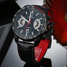 FORSINING Classic Black Red Automatic Watch Men Military Real Genuine Leather Strap Watches Luxury Brand Wristwatches