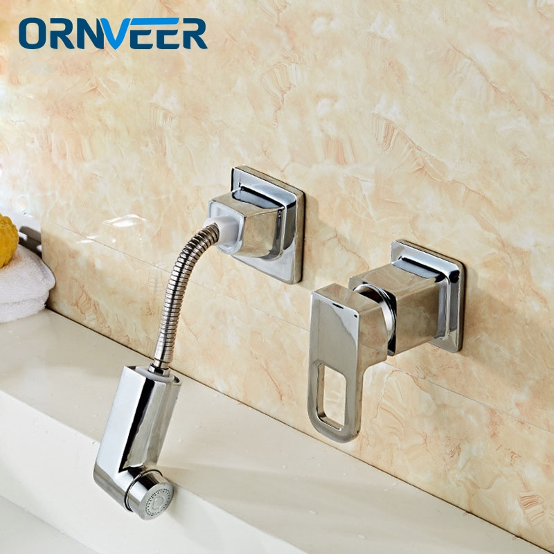 SAMOEL Chrome Finish Single Lever Home Bathroom Basin Faucet Spout Sink Cold Water Tap K ...