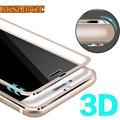 Borda curvada 3d cobertura completa real vidro temperado para iphone 6 6 s titanium película protetora protetor de tela para iphone 7 7 plus