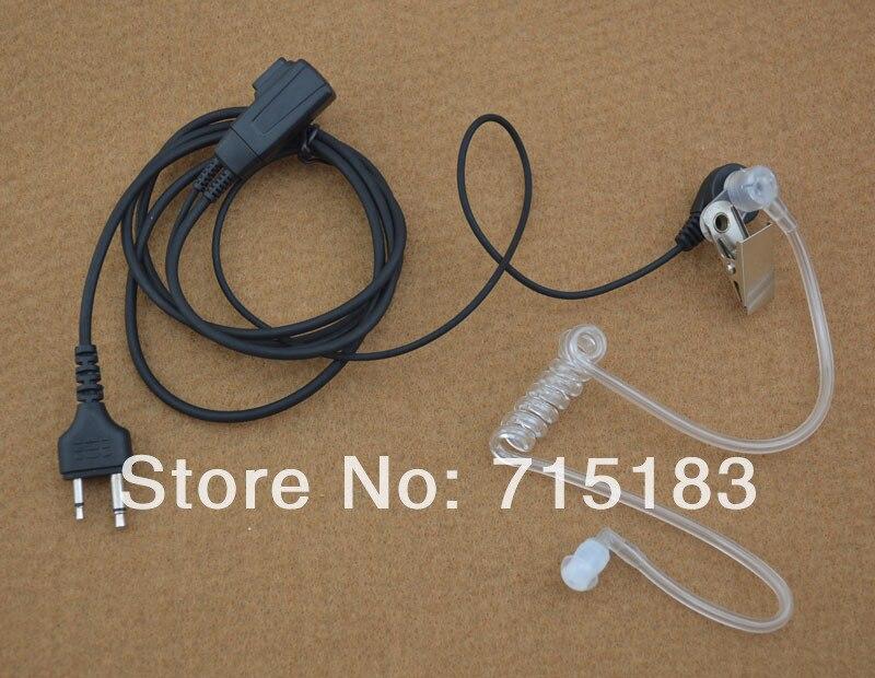 2-Pin With Straight Angle Plug Air Tube Acoustic Headset With PTT For ICOM IC-F11 IC-F21 IC-V82 IC-U82 VERTEX VX-200