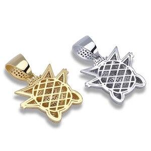 Image 5 - JINAO collier de bijoux Hip Hop, pendentif nouveauté, en cuivre, Zircon cubique, chaîne glacée, cadeau pour hommes