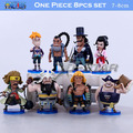 "Free Shipping 8pcs Mini 3"" One Piece Whitebeard Pirates Crew The 93th PVC Action Figures Model Collection Model (8pcs per set)"
