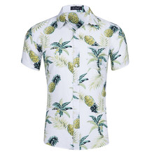 e16b5c2a6c2 2019 New Hawaiian Summer Men S Shirts Causal Beach Short Sleeve Camisa  Masculina Printing Pineapple Pattern Top