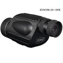 Gomu 10-30X50 HD Zoom Monocular Bird Watch High quality Nitrogen Waterproof Telescope Binoculars For Hunting Shockproof Tripod