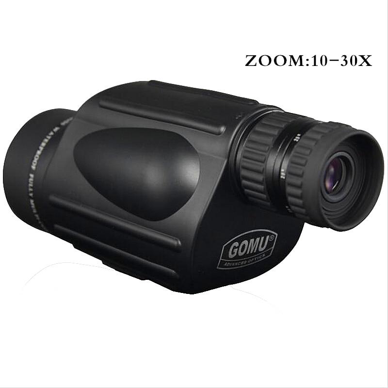 Gomu 10-30X50 HD Zoom Monocular pájaro reloj de alta calidad nitrógeno impermeable telescopio binoculares prismáticos binoculares de caza a prueba de golpes a prueba de trípode - 2