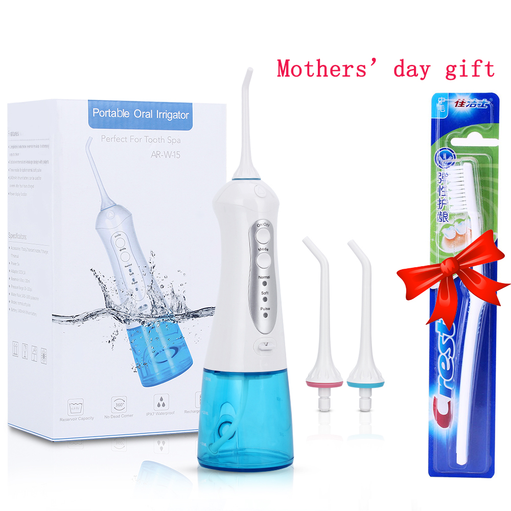 Portable Cordless Oral Irrigator Water Flosser USB Rechargeable Dental Care Water Tank Dental SPA Irrigator Teeth Cleaner 2017 teeth whitening oral irrigator electric teeth cleaning machine irrigador dental water flosser professional teeth care tools