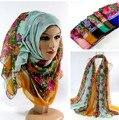 Mujeres del resorte del algodón viscosa 6 colores bufanda larga mujeres head wrap hijab musulmán bufandas 10 unids/lote