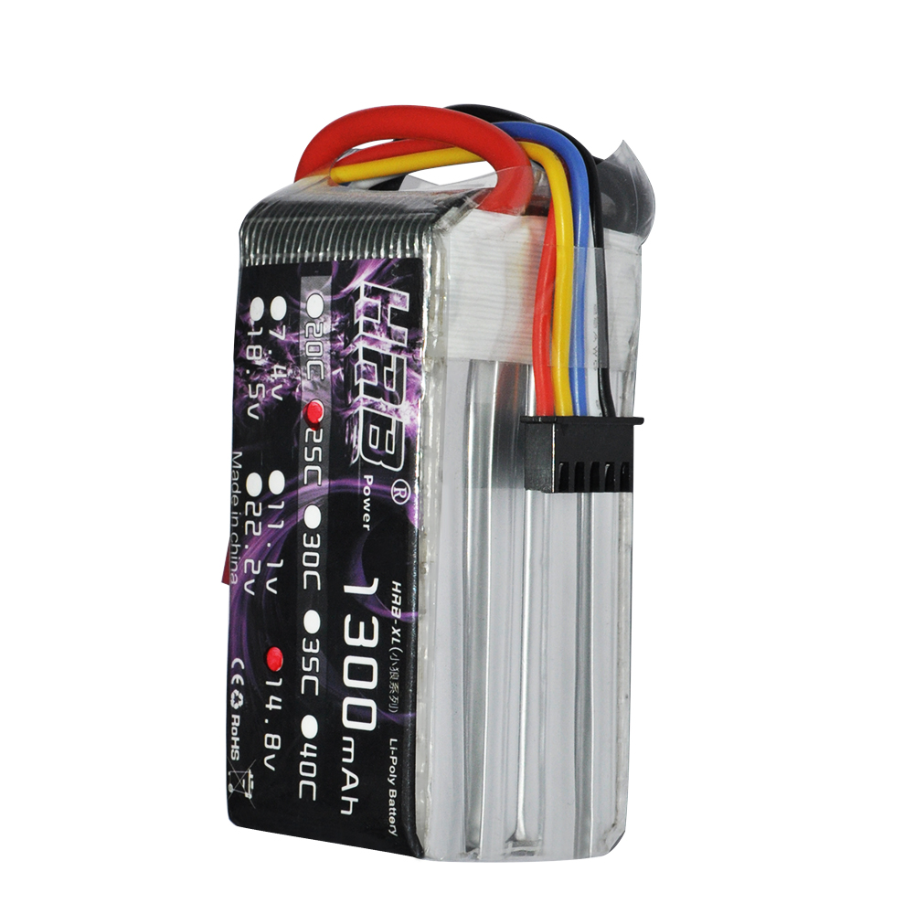 HRB RC Lipo Battery 14.8V 1300mAh 25C-50C For Helicopters RC KT Plate Airplane Car  7 4v 500mah 50c lipo battery