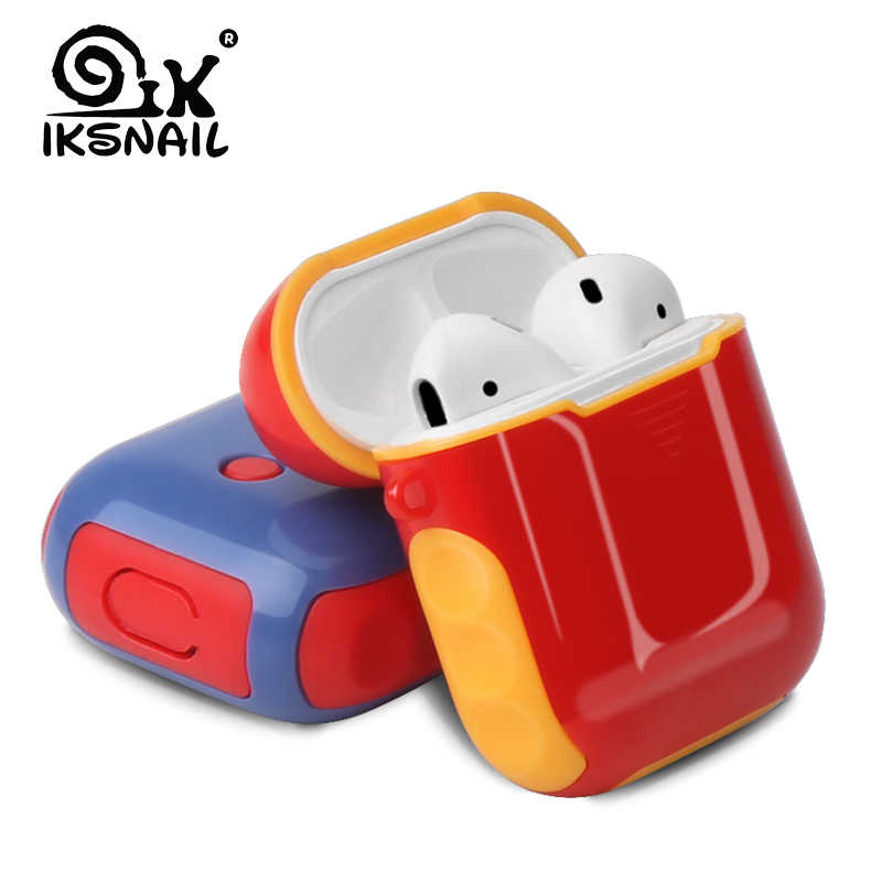IKSNAIL dla przypadku AirPods silikonowe etui ochronne, odporna na wstrząsy Earpods Case dla Apple słuchawki do Airpod ładowarka akcesoria