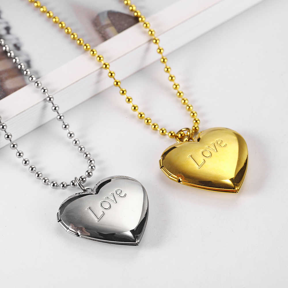 OUFEI biżuteria ze stali nierdzewnej dla kobiety naszyjnik w kształcie serca walentynki prezent na dzień matki akcesoria hurtownia luzem