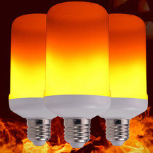 AC85-265V 110v 220v 5w b22 e27 led flame bulb lamp effect light with Heat dissipation gravity induction