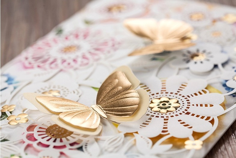 High Class Butterfly Wedding Invitations 2015 Laser Cut Printing – Butterfly Wedding Invitation Cards
