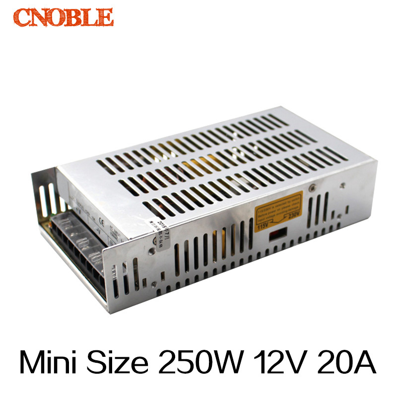 250W 12V 20A Mini Size Single Output Switching power supply for LED Strip light MS-250-12 free shipping 35w 24v 1 5a single output mini size switching power supply for led strip light ms 35 24
