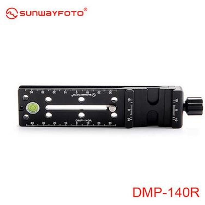 SUNWAYFOTO Multi Purpose Rail Nodal Slide DMP 140R for Gitozo Manfrotto benno tripod-in Tripod Monopods from Consumer Electronics    3