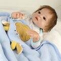 Bonecos de vinil de silicone macio 22 polegada 55 cm boneca reborn baby brown crown prin menino de algodão feito à mão realista corpo bebe juguetes toys